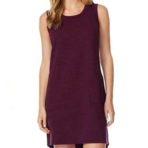 32 Degrees Cool Space Dye Burgundy Pocket Dress